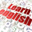 Stock Photo: Education concept: Learn English on alphabet