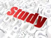Education concept: Study on alphabet — Stock Photo