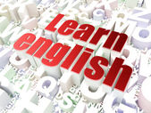 Education concept: Learn English on alphabet — Stock Photo