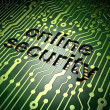 Security concept: circuit board with word Online Security - Stockfoto