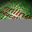 Stock Photo: Education concept: circuit board with word Online Education