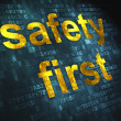 Privacy concept: Safety First on digital background - Stockfoto