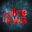 News concept: Online News on digital background - Stockfoto