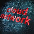 Cloud computing technology, networking concept: Cloud Network on — Foto Stock #19539865