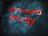 Security concept: Password Security on digital background — Stock Photo