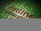 Education concept: circuit board with word Online Education — Stockfoto