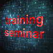 Education concept: Training Seminar on digital background - Foto Stock