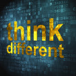 Education concept: Think Different on digital background — Stock Photo #19542289