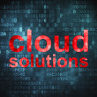 Cloud computing technology, networking concept: Cloud Solutions — Foto Stock #19543171
