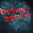 Stock Photo: Privacy concept: Business Security on digital background
