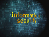 Protection concept: Information Security on digital background — Foto de Stock