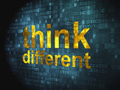 Education concept: Think Different on digital background — Stock Photo