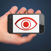 Security concept: smartphone with Eye. — Foto de Stock