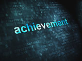 Education concept: Achievement on digital background — Stock Photo