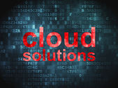Cloud computing technology, networking concept: Cloud Solutions — Stock Photo