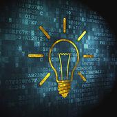 Finance concept: Light Bulb on digital background — Stock Photo