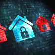 Privacy concept:  on digital background - Stock Photo