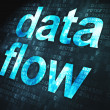 Information concept: Data Flow on digital background — Stock Photo