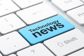 News concept: computer keyboard with Technology News — Stock Photo