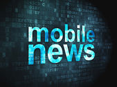 News concept: Mobile News on digital background — Stock Photo