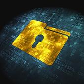 Business concept: Folder on digital background — Foto de Stock