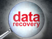 Information concept: optical glass with words Data Recovery — Stock Photo