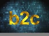 Finance concept: B2c on digital background — 图库照片