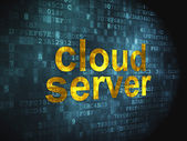 Cloud computing technology, networking concept: Cloud Server on — Stok fotoğraf