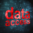 Information concept: Data Access on digital background - Foto Stock