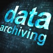 Information concept: Data Archiving on digital background — Stock Photo