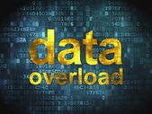 Information concept: Data Overload on digital background — Stock Photo