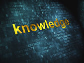 Education concept: Knowledge on digital background — Stock Photo