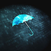 Protection concept: Umbrella on digital background — Foto Stock