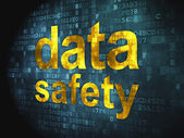 Information concept: Data Safety on digital background — Stock Photo