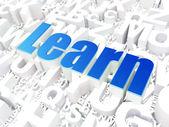 Education concept: Learn on alphabet — Zdjęcie stockowe