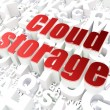 Cloud computing technology, networking concept: Cloud Storage on — Stock Photo #19708169