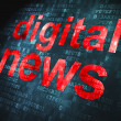 News concept: Digital News on digital background — Stock Photo #19709123