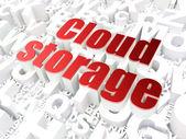 Cloud computing teknik, nätverk koncept: molnlagring på — Stockfoto