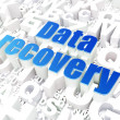 Information concept: Data Recovery on alphabet - ストック写真