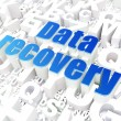 Information concept: Data Recovery on alphabet — Stockfoto