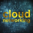 Cloud computing technology, networking concept: Cloud Networking — Stock fotografie