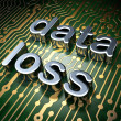 Information concept: circuit board with word Data Loss — Stock Photo
