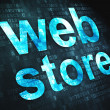 Web design SEO concept: Web Store on digital background — Stock Photo