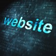 Web design SEO concept: Website on digital background — Stock Photo