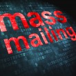 Advertising concept: Mass Mailing on digital background — Stock Photo #19719585