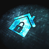 Safety concept: Home on digital background — Stock Photo