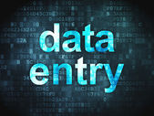 Information concept: Data Entry on digital background — Stock Photo