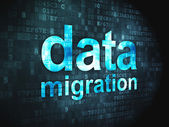Information concept: Data Migration on digital background — Stock Photo