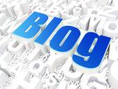 Web design SEO concept: Blog on alphabet — Stock Photo