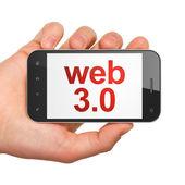 Web design SEO concept: smartphone with Web 3.0 — 图库照片